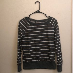 Element striped grey and white sweater